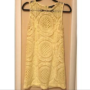 Yellow | Crochet | Forever21 | Mini Dress | Medium